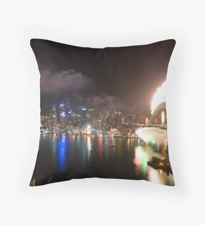 Sydney New Years Eve 2008 Throw Pillow