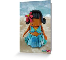 CHUNKIE Hula Girl Greeting Card