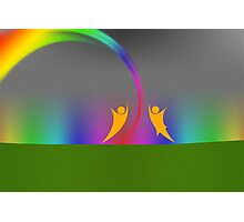 Rainbow Dance v1 Photographic Print