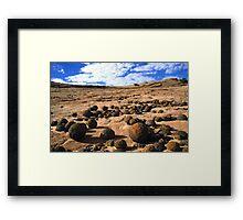 Moqui Marbles Framed Print
