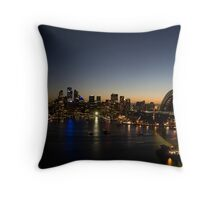 Sydney Skyline Throw Pillow