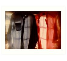 Two Shirts in a Window, Study Number 1 Art Print