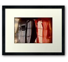 Two Shirts in a Window, Study Number 1 Framed Print