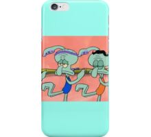 Squidward doing Aerobics iPhone Case/Skin