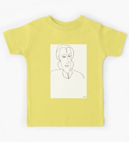 Abstract sketch of face Kids Tee