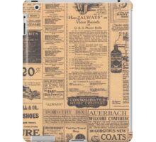 Old Newspaper Page Look iPad Case/Skin