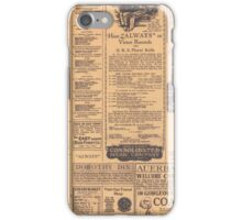 Old Newspaper Page Look iPhone Case/Skin