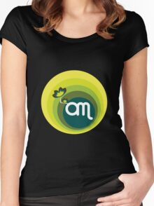 Om v 1.0 : Mint Women's Fitted Scoop T-Shirt
