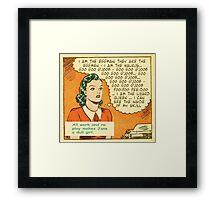 Comic Book Pop Art Jane Is The Eggman Framed Print