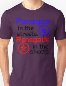 Paragon vs. Renegade Unisex T-Shirt