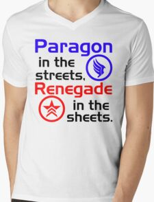 Paragon vs. Renegade Mens V-Neck T-Shirt