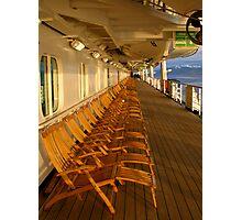 Cruiseship deck Photographic Print