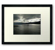 Heavy Skies Framed Print