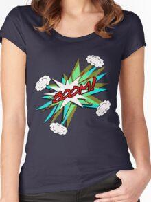 BOOM! pop art Women's Fitted Scoop T-Shirt