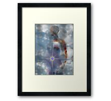 THE LIGHT WITHIN/SELF REALIZATION STARTS WITHIN ME Framed Print