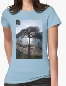 landscape lake Womens Fitted T-Shirt