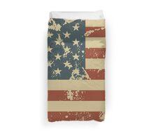 America Patriotic Grunge Flag  Duvet Cover