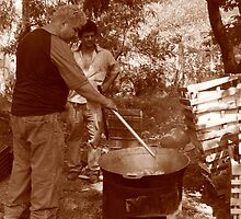 "Frying ""Chicharon"" by Guy Tschiderer"