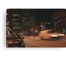 Main Street Winterpeg Canvas Print