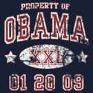 Property of Obama Inauguration t shirt by barackobama
