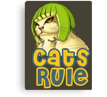 Cats Rule Canvas Print
