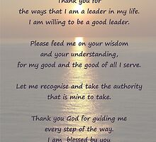 Leadership Prayer Poster and Card by Katherine T Owen, Author