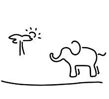 elephant Africa savanna by lineamentum