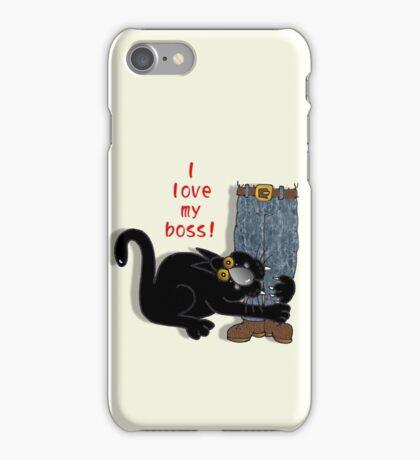 I 'love' my boss! iPhone Case/Skin