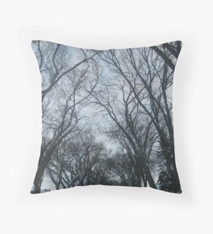 tree contours Throw Pillow