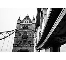 Tower Bridge Monochrome Photographic Print