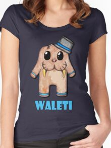 Waleti the Yeti Walrus with name Women's Fitted Scoop T-Shirt