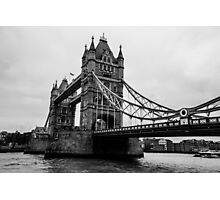 Tower Bridge Black and White Photographic Print