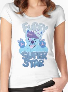 FURRY SUPERSTAR - color Women's Fitted Scoop T-Shirt