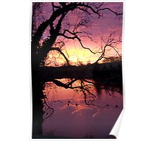 Silhouetted Sunrise Poster