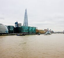 The Shard and Thames by PatiDesigns