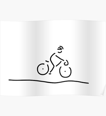 bicycle travel racing wheel driver Poster