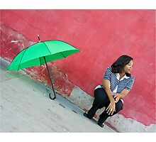 The Red Wall Photographic Print