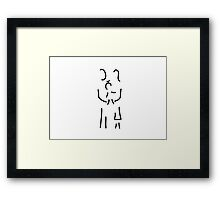 baby with father and mother Framed Print