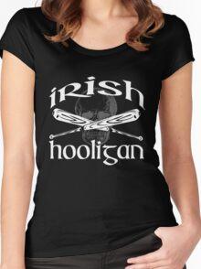 irish hooligan skull baseball Women's Fitted Scoop T-Shirt
