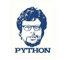 Guido + Python Art Print
