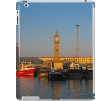 Barcelona-Sunset at the port iPad Case/Skin