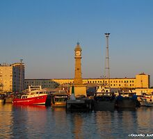 Barcelona-Sunset at the port by CJVisions