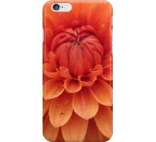 Dahlia details in orange iPhone Case/Skin
