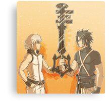 Kingdom Hearts Keyblade Masters Riku Terra Metal Print