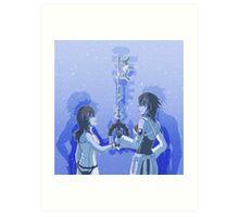 Kingdom Hearts Keyblade Masters Kairi Aqua Art Print