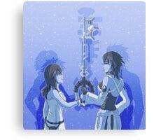 Kingdom Hearts Keyblade Masters Kairi Aqua Canvas Print