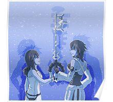 Kingdom Hearts Keyblade Masters Kairi Aqua Poster