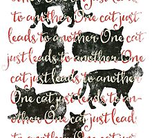 one cat just leads to another by Sybille Sterk