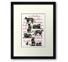 one cat just leads to another Framed Print