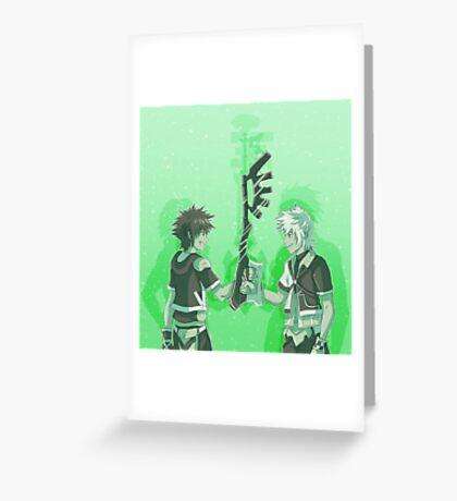 Kingdom Hearts Keyblade Masters Sora Ventus Greeting Card